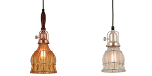 Crackle Glass Pendant Lights