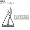 8ft White Cord and Aircraft Cable Thumbnail