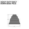 Heavy Duty Bolt Down Base Pole Thumbnail