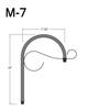 "M-7, 7"" Mini Gooseneck W/Scroll Thumbnail"