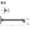 "B-6, 11"" Straight Arm (1/2"" NPT) Thumbnail"