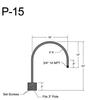 "P-15, 18"" Post Arm (3/4"" NPT) Thumbnail"