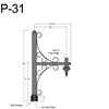 "P-31, 29"" Post Arm (3/4"" NPT) Thumbnail"