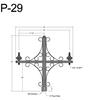 "P-29, 40"" Post Arm (3/4"" NPT) Thumbnail"