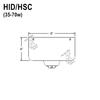 35-70W HID Hang Straight Swivel Canopy for Sloped/Vaulted Ceilings Thumbnail