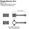"14"" Single Banner Arm Thumbnail"
