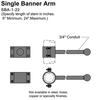 "22"" Single Banner Arm Thumbnail"
