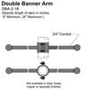 "16"" Double Banner Arm Thumbnail"