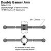 "20"" Double Banner Arm Thumbnail"