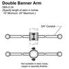 "24"" Double Banner Arm Thumbnail"
