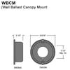 120 or 277 Volt Ballast Mounted in Wall Canopy Thumbnail
