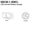 120V Residential Voltage Ballast Mounted in SMC Canopy Thumbnail