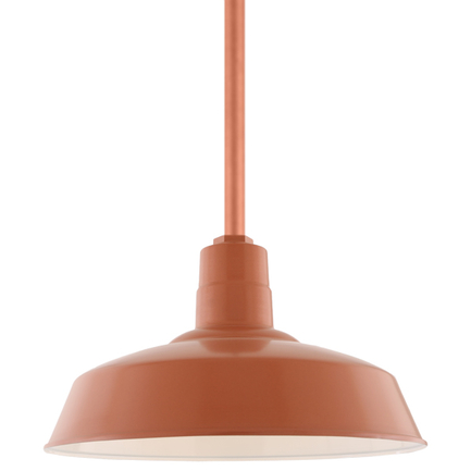 "14"" shade with ST2 in 113 Painted Copper finish"