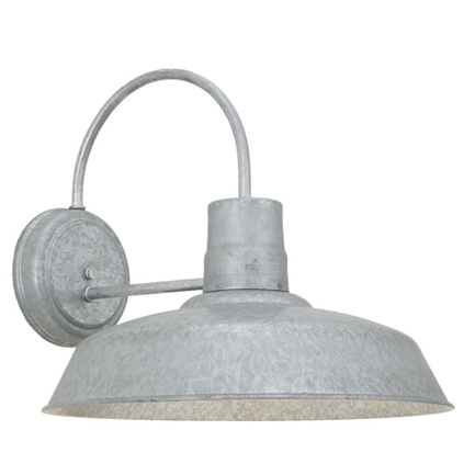 "16"" RLM shade wall light in 96 galvanized finish"