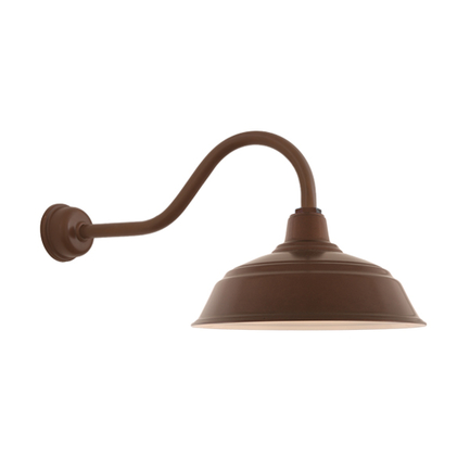 """17"""" shade with HL-A gooseneck arm and DCC accessory in 145 Oil Rubbed Bronze finish"""