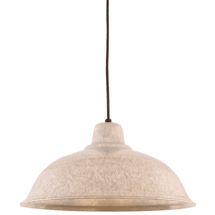 """16"""" RLM shade in 96 Galvanized finish with CB8 mounting"""