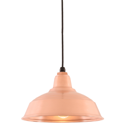 """16"""" RLM shade in 48 raw copper finish with CB8 mounting"""