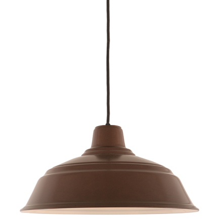"""16"""" RLM shade in 145 Oil Rubbed Bronze finish with CB8 mounting"""