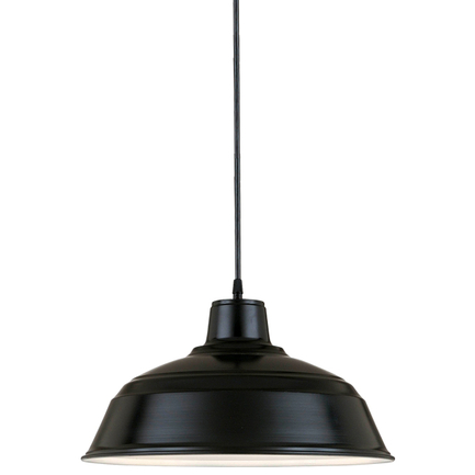 """11"""" RLM shade in 91 Black finish with CB8 mounting"""