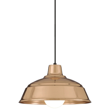 """11"""" shade in 44 polished copper finish with CB8 mounting"""