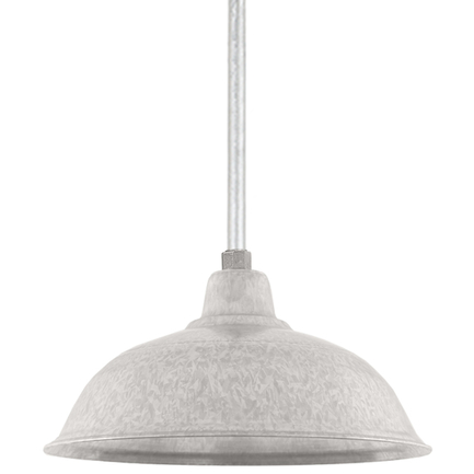 """16"""" RLM shade with ST3 in 96 Galvanized finish"""