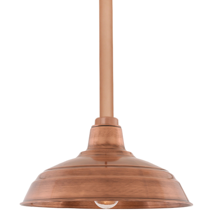 "15"" RLM shade with ST3 in 49 weathered copper finish"