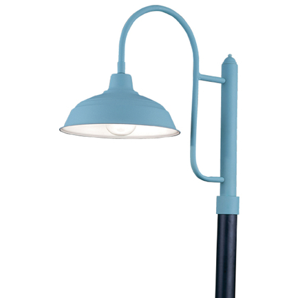 """17"""" shade with P-3 post arm with custom color"""