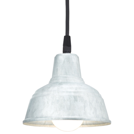 """6"""" mini RLM shade in 96 Galvanized finish with CB8 mounting"""