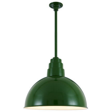 """24"""" shade with 20"""" ST3 and HDSMC in 29 French Green finish"""