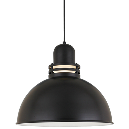 """18"""" shade with frost glass in 91 Black finish with CB8 mounting"""
