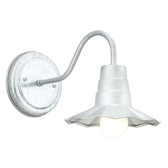Mini Classic Radial Shade Wall Light