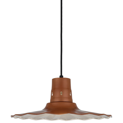 """18"""" shade in 113 Painted Copper finish with CB8 mounting"""
