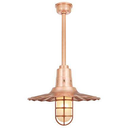 """16"""" shade with 18"""" ST3, SMC and DCC accessory in 48 Raw Copper finish"""