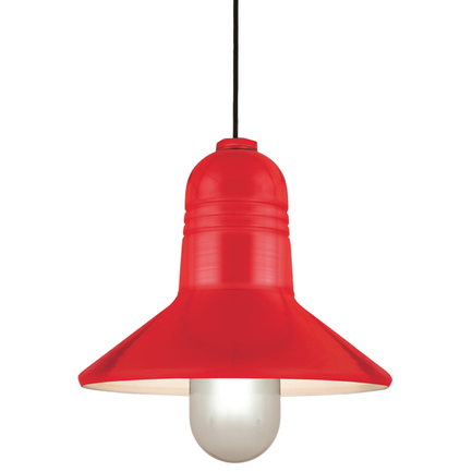"""15"""" shade in 97 Red finish with CB8 mounting"""