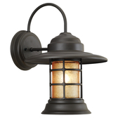 The Tapered Hatted Saucer Vapor Jar Wall Light