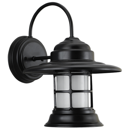 Mini fixture with frost glass in 91 black finish