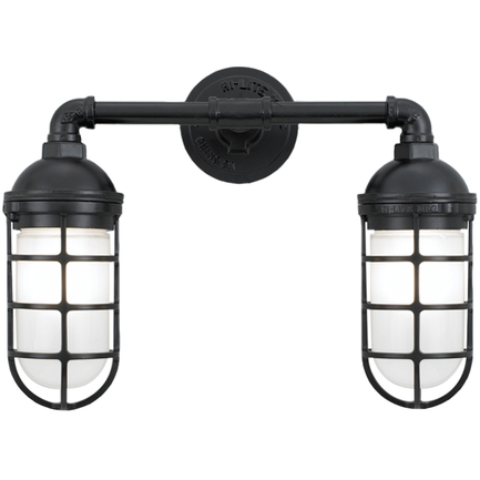 Small fixture with frost glass in 91 black