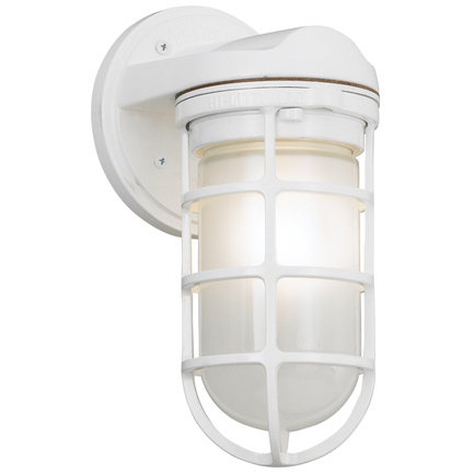 Small fixture in 93 white with frost glass