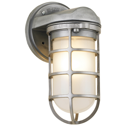 Small fixture with frost glass in 101 brushed aluminum finish