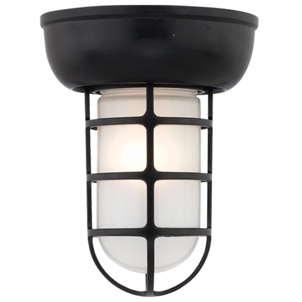 Large fixture in 91 Black finish with frost glass
