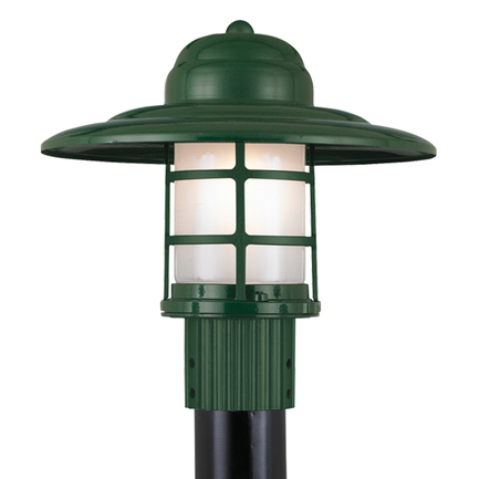"""14"""" shade in 95 dark green with frost glass"""