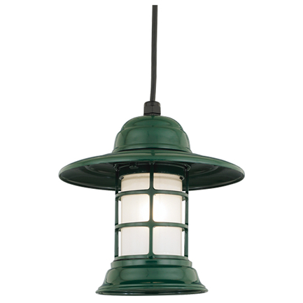 "10"" shade in 95 dark green with frost glass, 8 ft cord with 91 black canopy"
