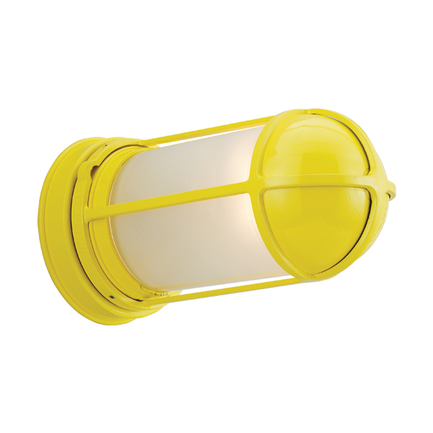Large fixture with GD-4 in 92 yellow with frost glass
