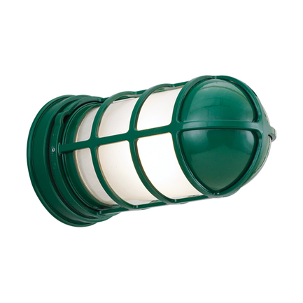 Large fixture in 95 dark green with frost glass