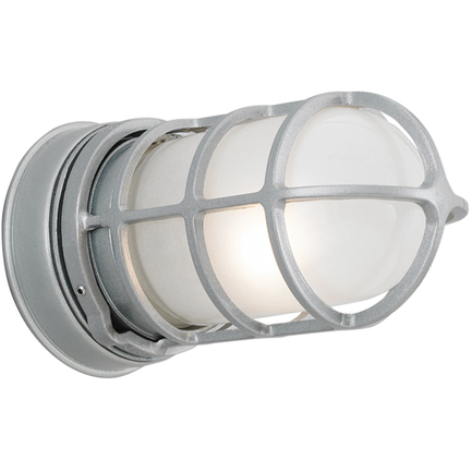 Mini fixture with GD-1 in 118 painted aluminum with frost glass
