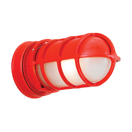Mini fixture with GD-5 in 97 red with frost glass
