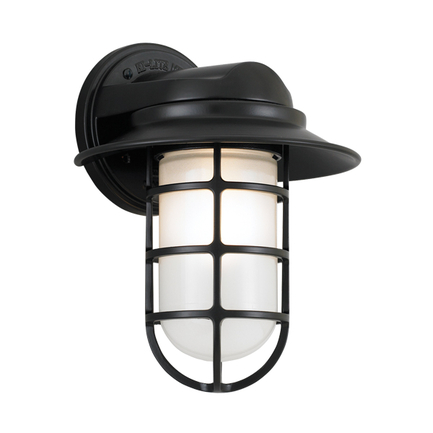 """8"""" shade with frost glass in 91 Black"""