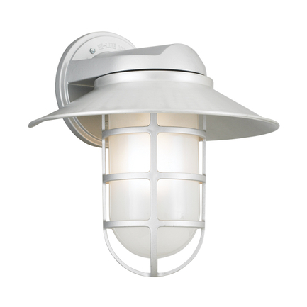 """12"""" shade with frost glass in 101 brushed aluminum finish"""