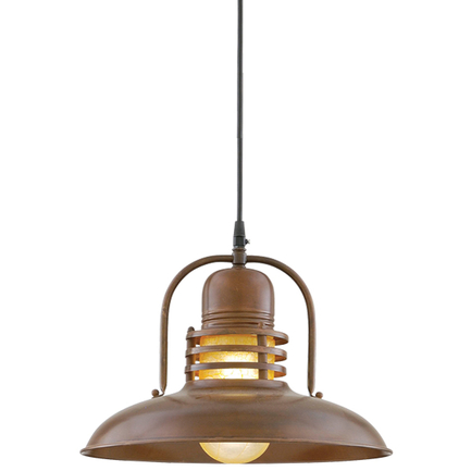 """14"""" shade with amber crackle glass in 77 rosewood finish, 8 ft. black cord with 91 black canopy"""