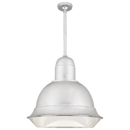 """25"""" shade with 18"""" ST3 and HSC in 118 painted aluminum finish, DPL accessory"""
